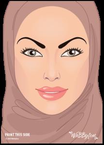 kindergrime oefenbord moslima